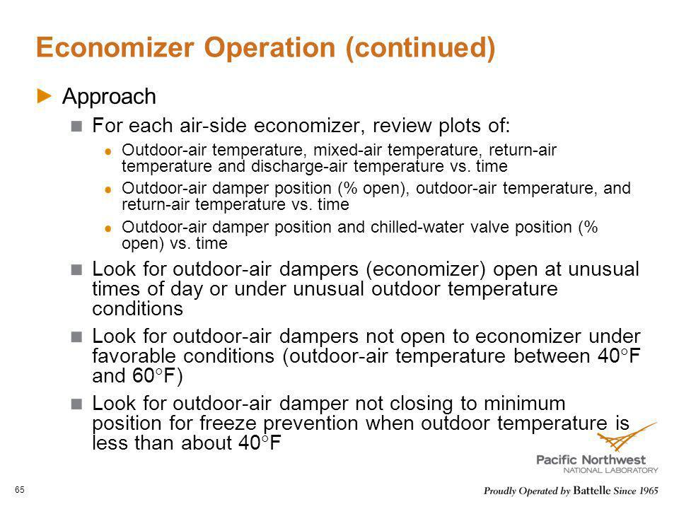 Economizer Operation (continued)
