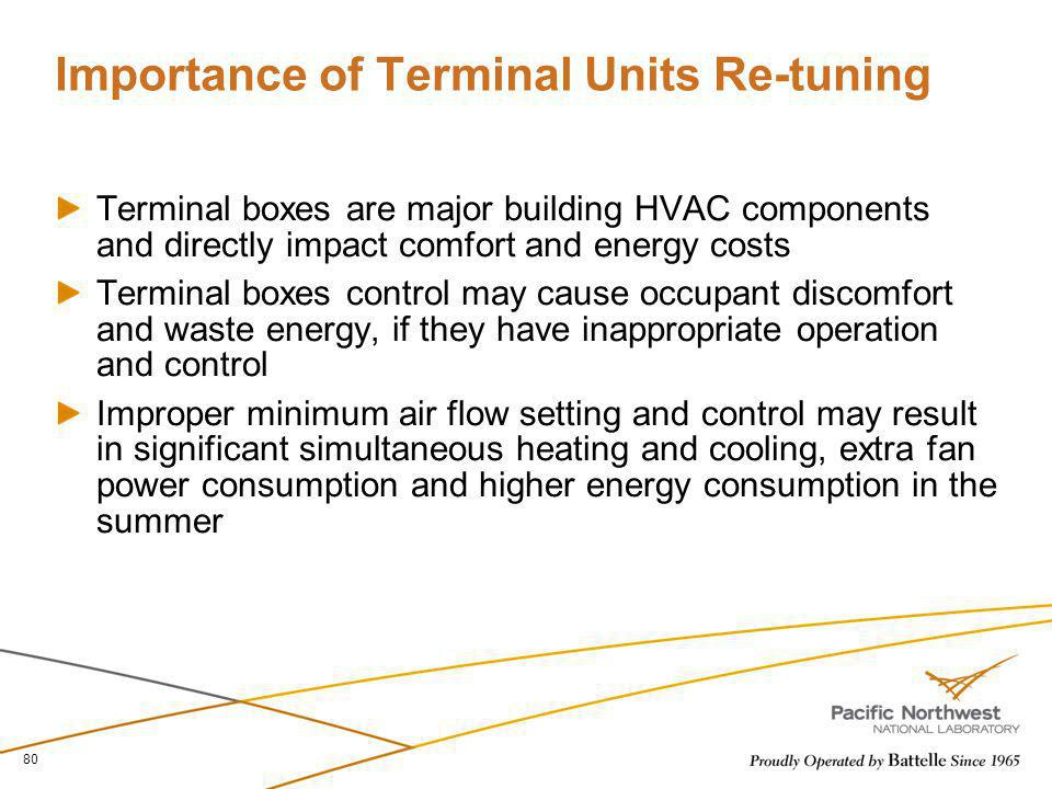 Importance of Terminal Units Re-tuning
