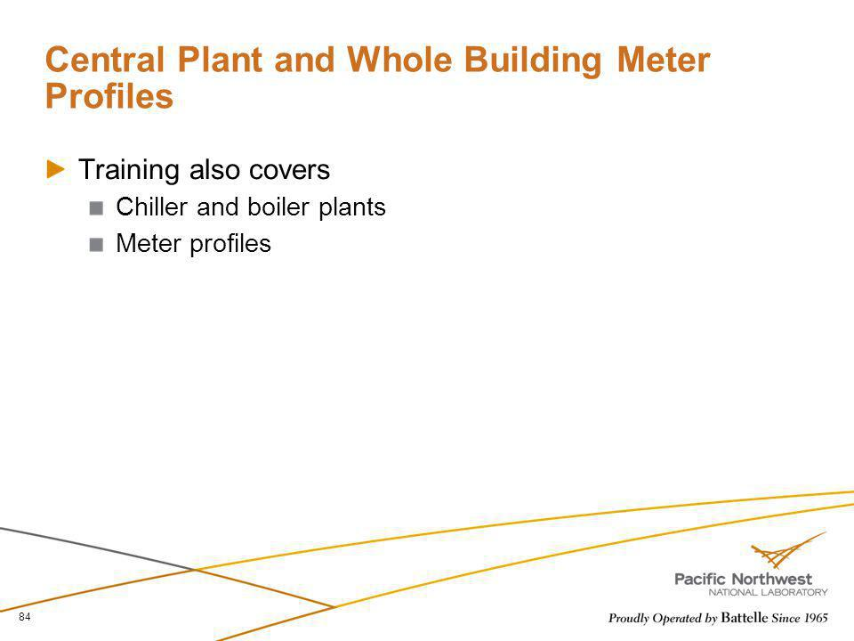 Central Plant and Whole Building Meter Profiles