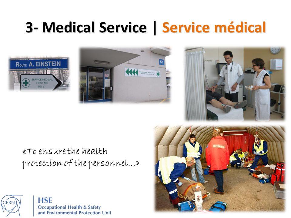 3- Medical Service | Service médical