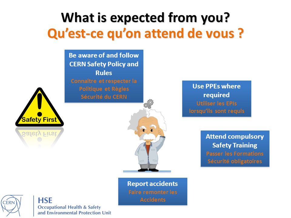 What is expected from you Qu'est-ce qu'on attend de vous