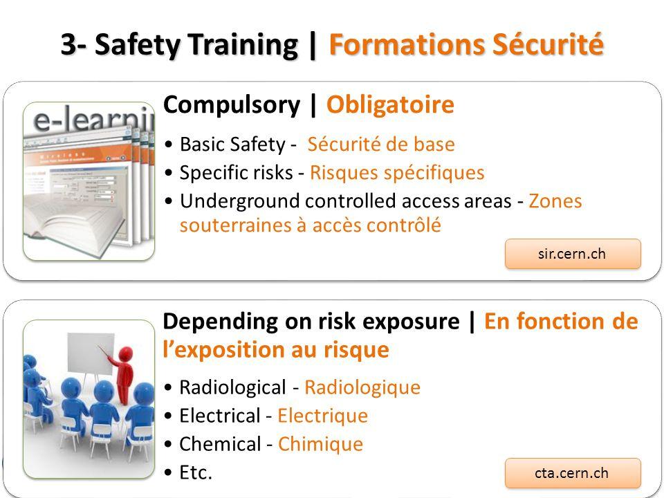 3- Safety Training | Formations Sécurité