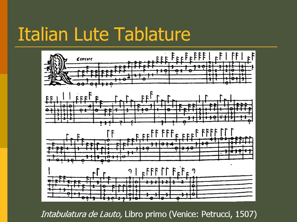 Italian Lute Tablature