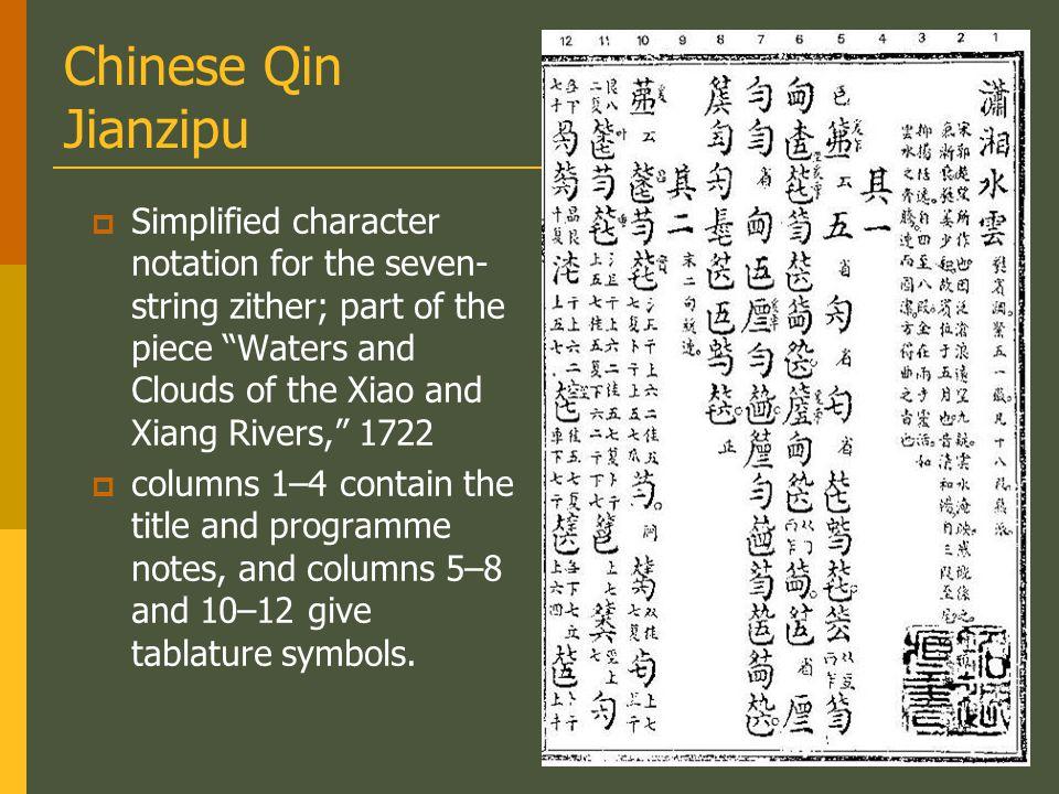 Chinese Qin Jianzipu