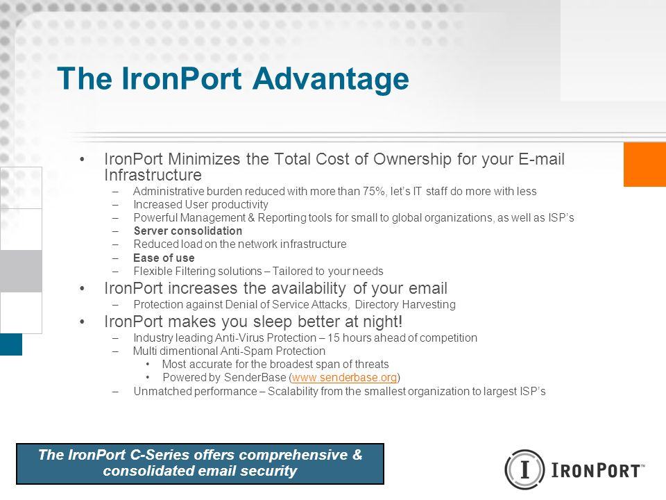 The IronPort Advantage