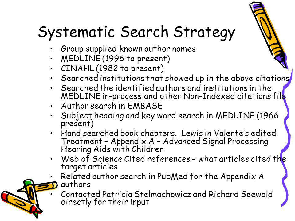 Systematic Search Strategy