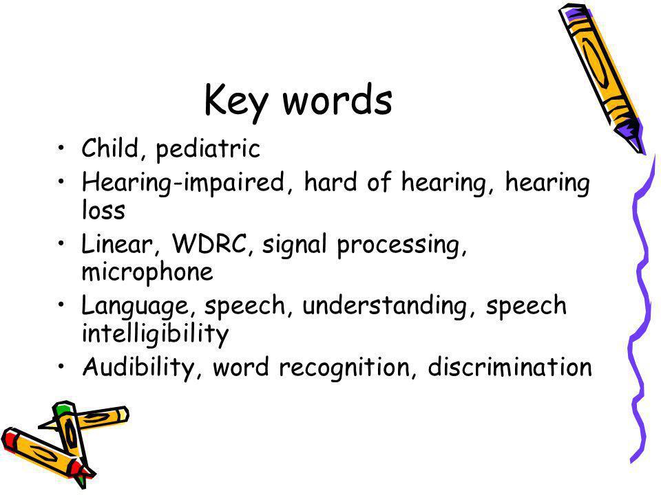 Key words Child, pediatric