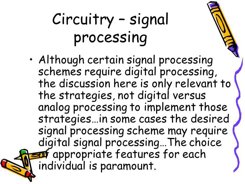 Circuitry – signal processing