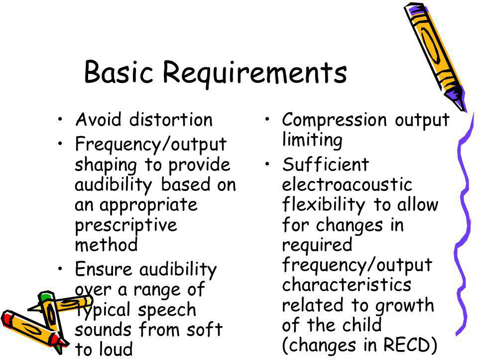 Basic Requirements Avoid distortion