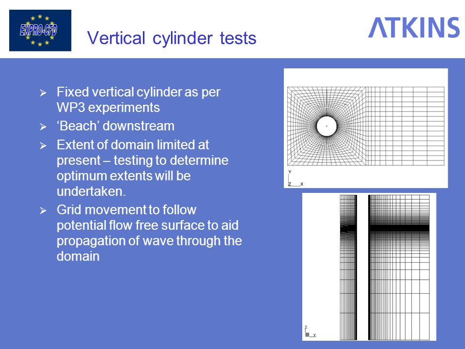 Vertical cylinder tests