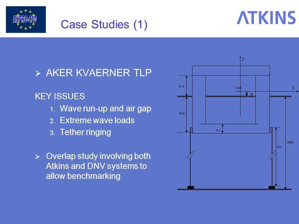 Case Studies (1) AKER KVAERNER TLP KEY ISSUES Wave run-up and air gap