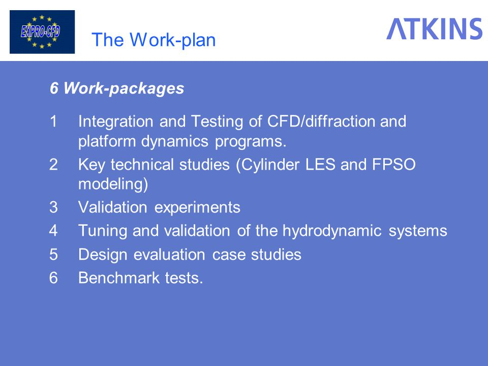 The Work-plan 6 Work-packages