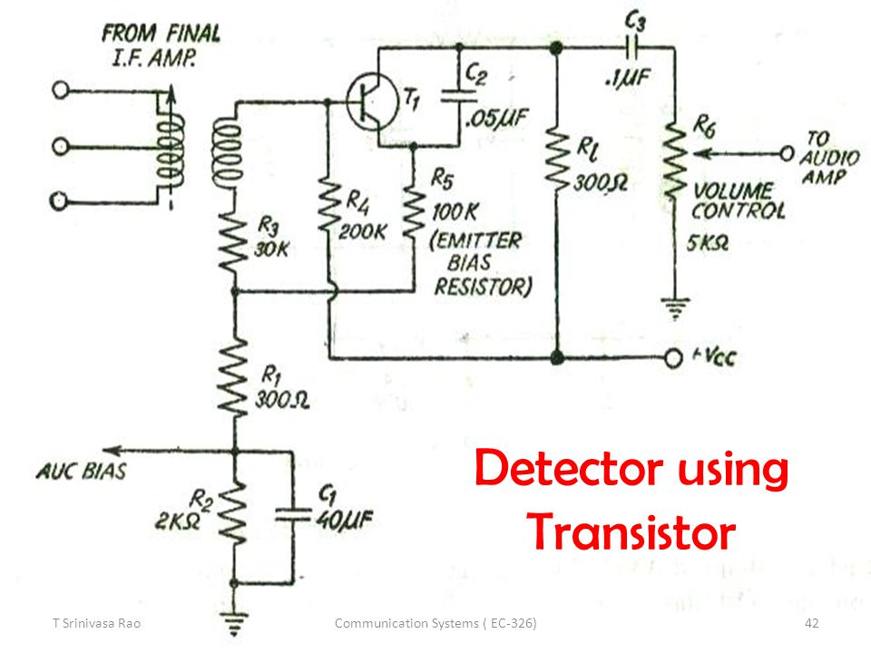 Detector using Transistor