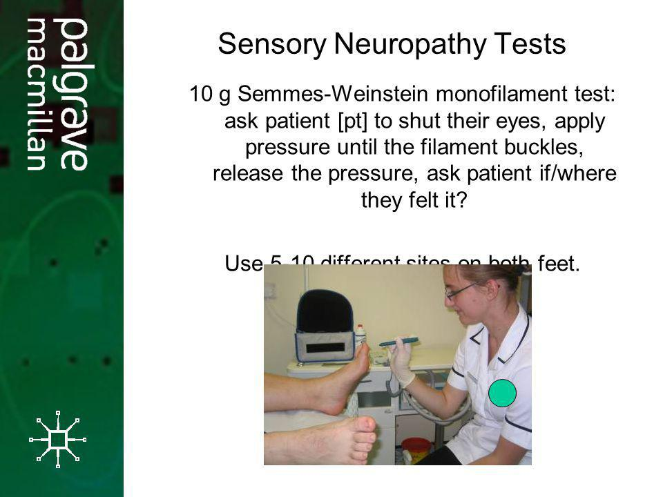 Sensory Neuropathy Tests