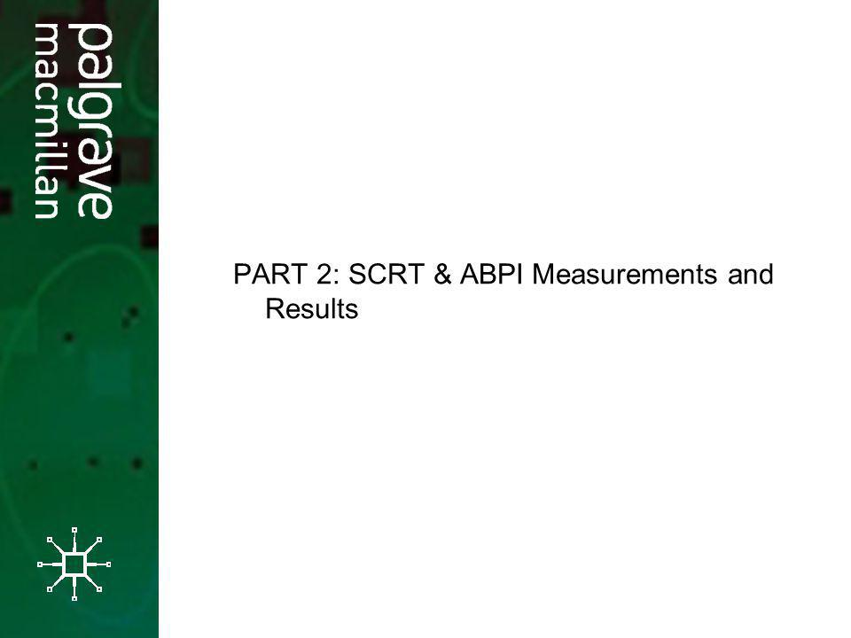 PART 2: SCRT & ABPI Measurements and Results