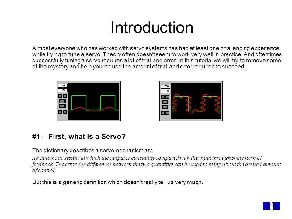 Introduction #1 – First, what is a Servo