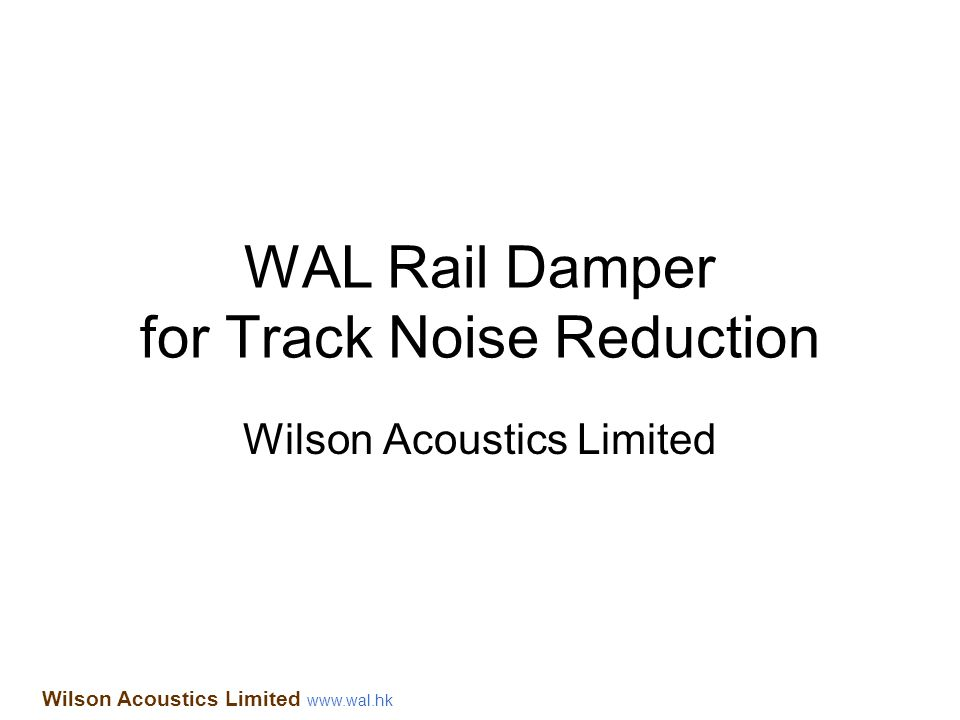 WAL Rail Damper for Track Noise Reduction