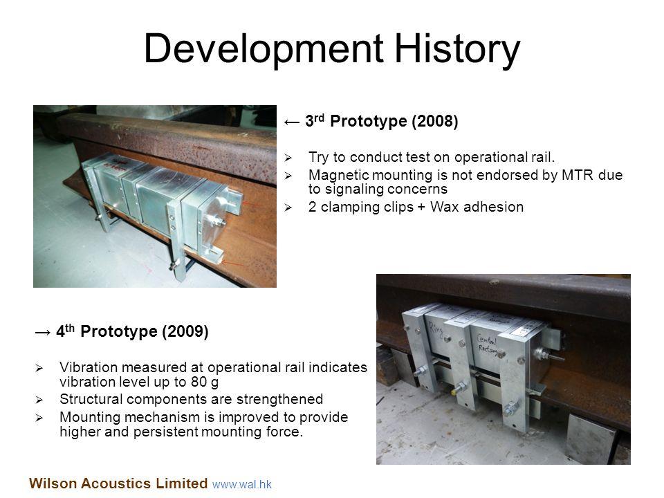 Development History ← 3rd Prototype (2008) → 4th Prototype (2009)