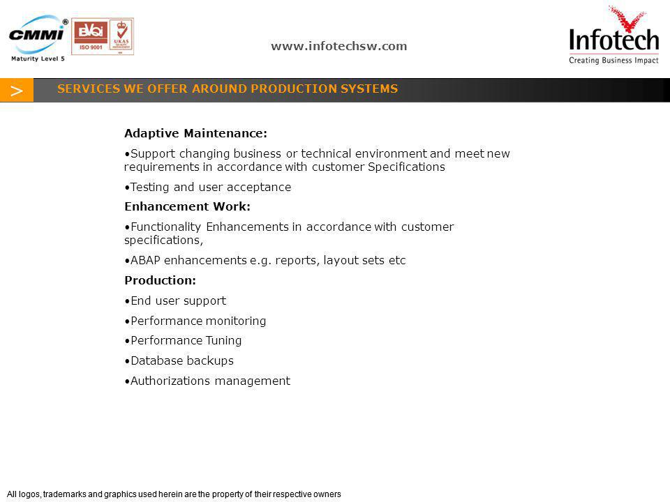 SERVICES WE OFFER AROUND PRODUCTION SYSTEMS