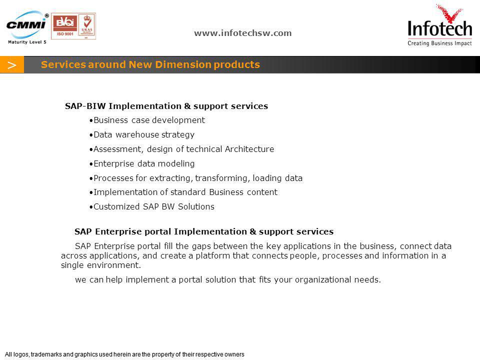 Services around New Dimension products