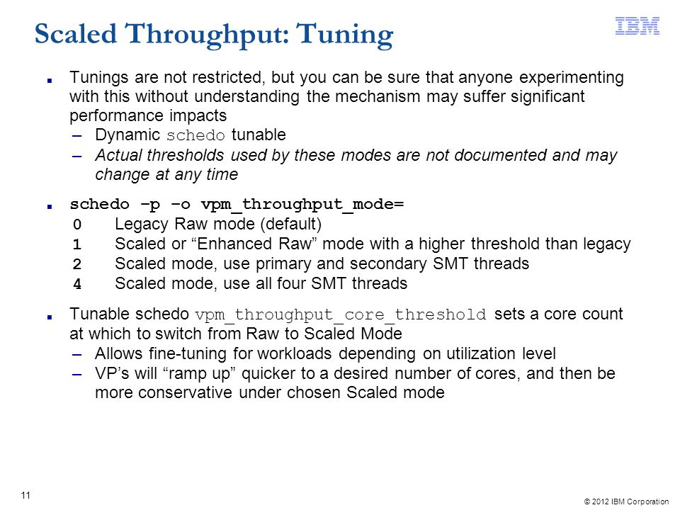 Scaled Throughput: Tuning