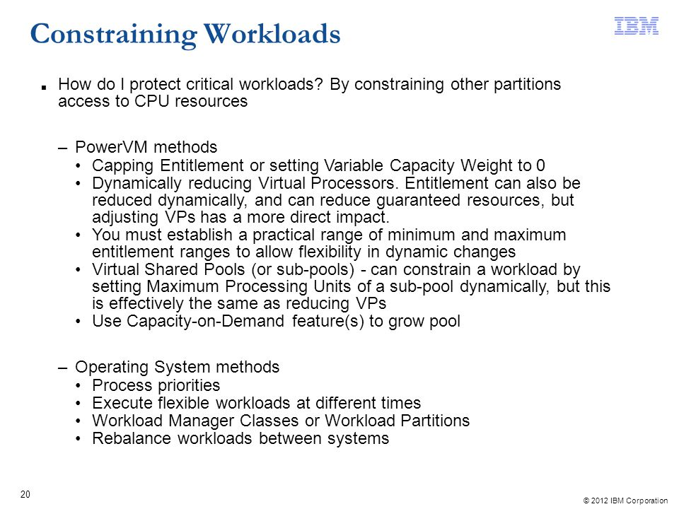 Constraining Workloads