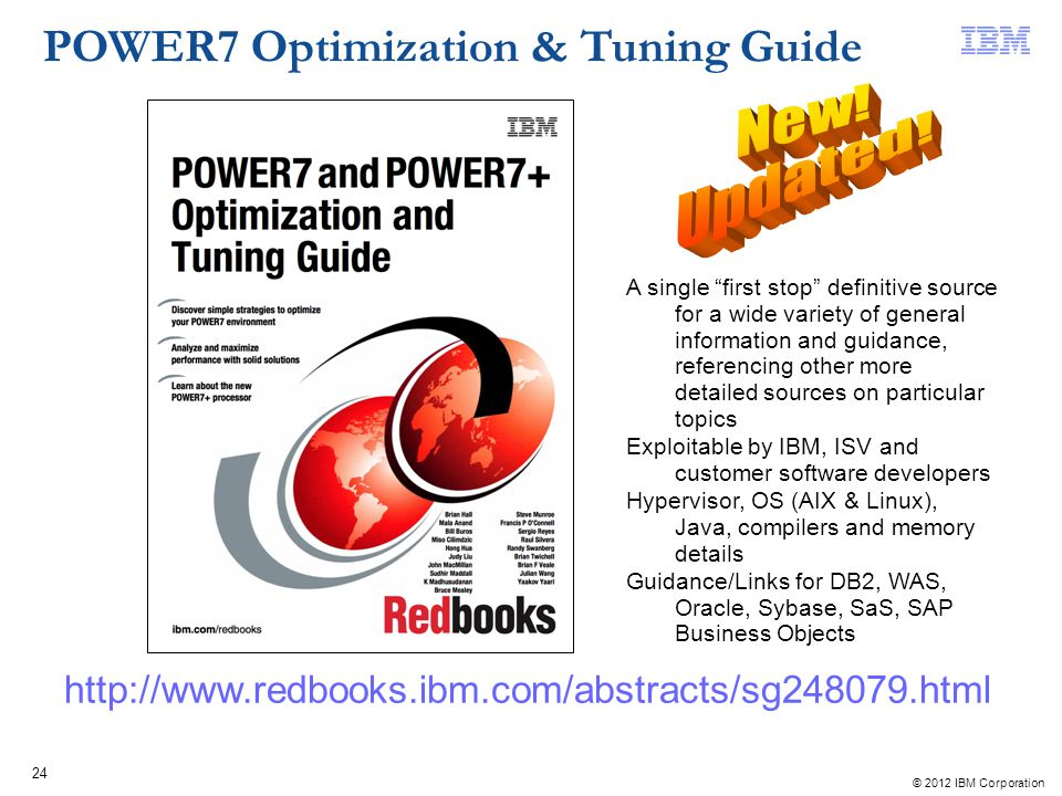 New! Updated! POWER7 Optimization & Tuning Guide