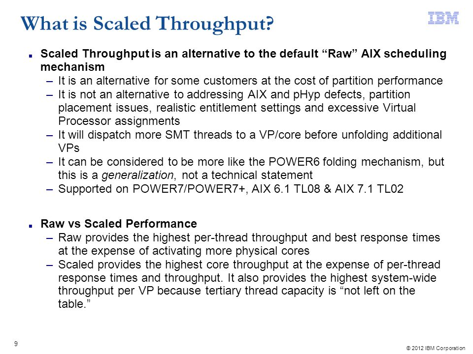 What is Scaled Throughput