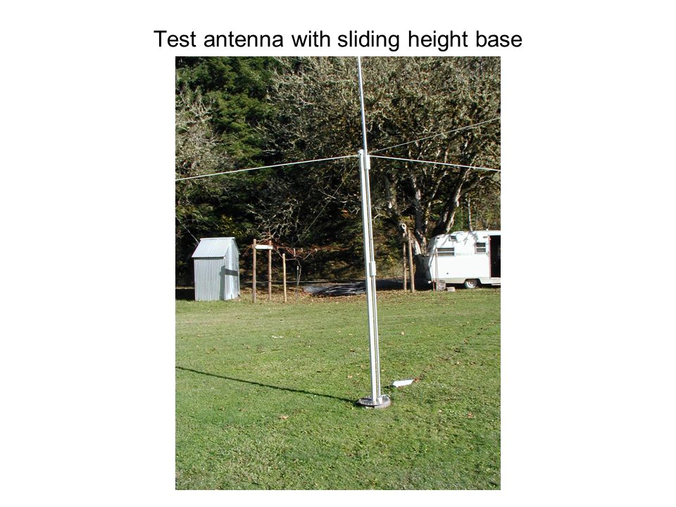 Test antenna with sliding height base