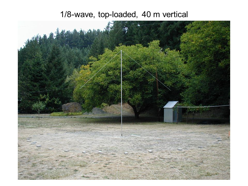 1/8-wave, top-loaded, 40 m vertical