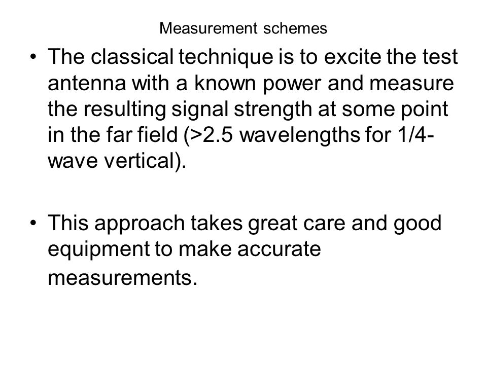 Measurement schemes