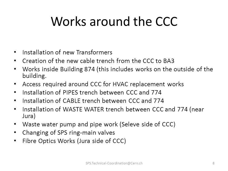 Works around the CCC Installation of new Transformers