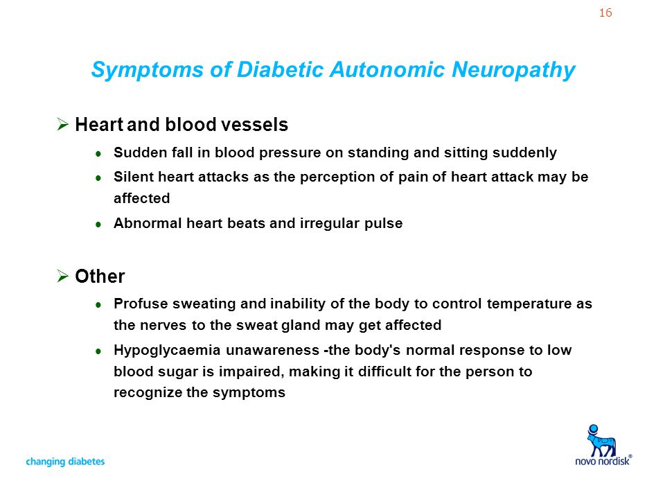 Symptoms of Diabetic Autonomic Neuropathy