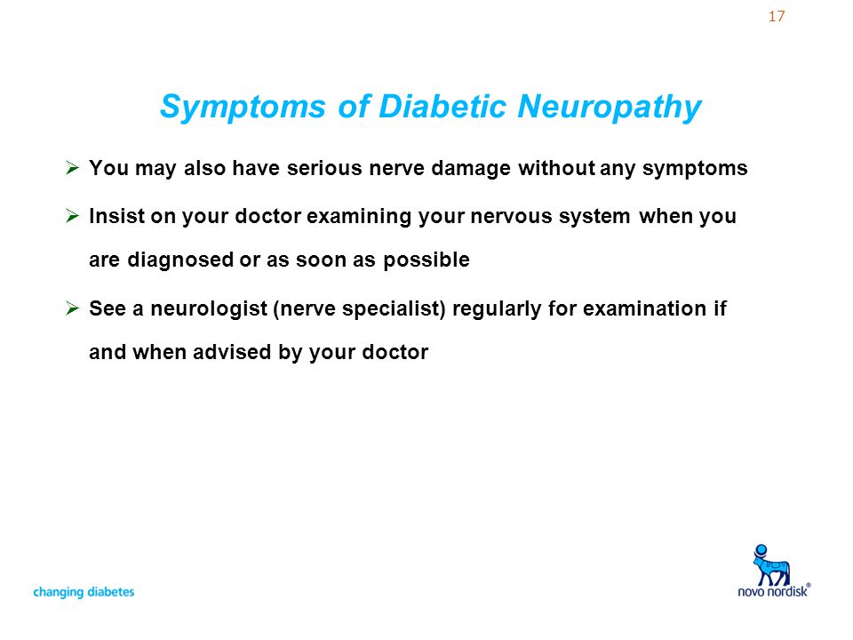 Symptoms of Diabetic Neuropathy