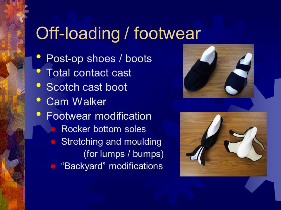 Off-loading / footwear