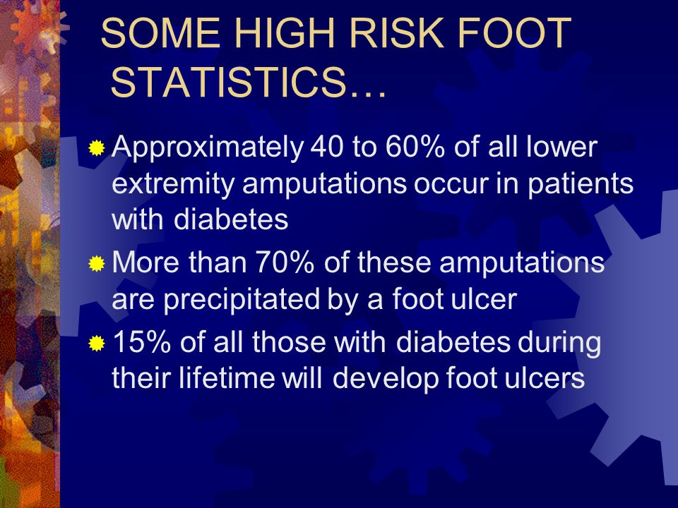 SOME HIGH RISK FOOT STATISTICS…