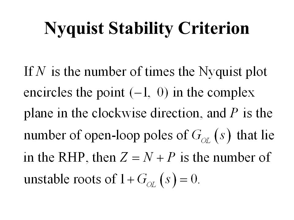 Nyquist Stability Criterion