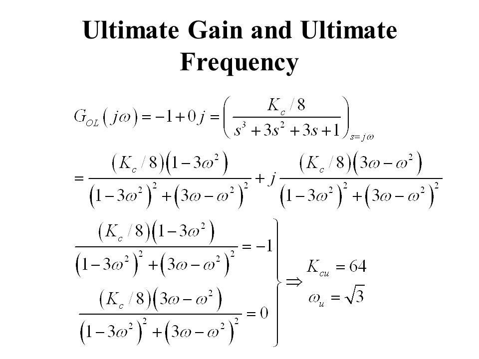 Ultimate Gain and Ultimate Frequency