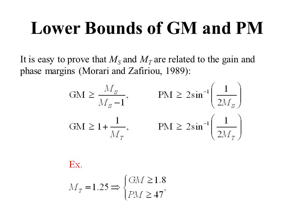 Lower Bounds of GM and PM