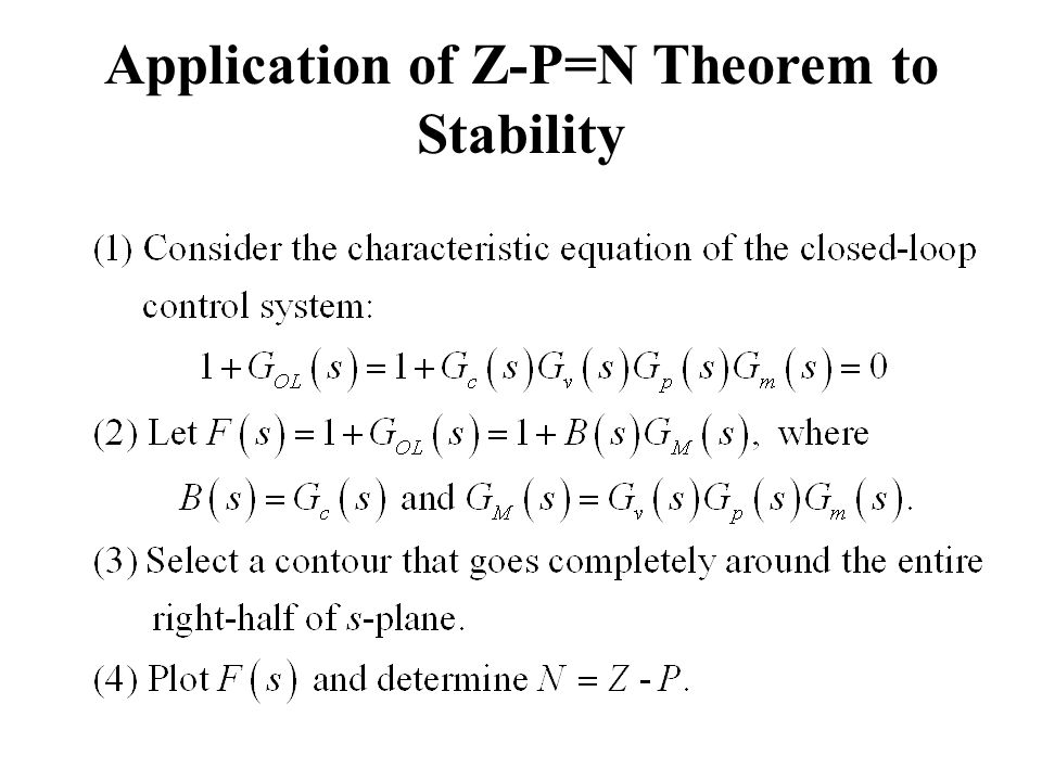 Application of Z-P=N Theorem to Stability