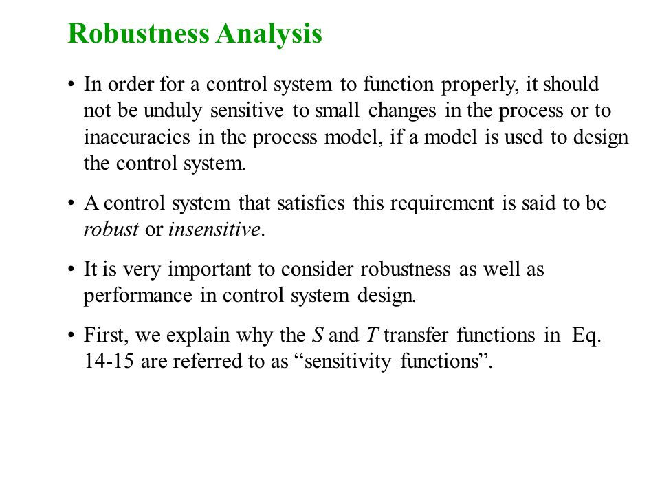 Robustness Analysis