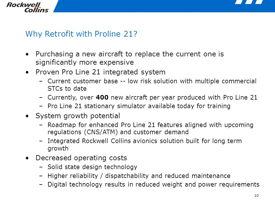 Why Retrofit with Proline 21