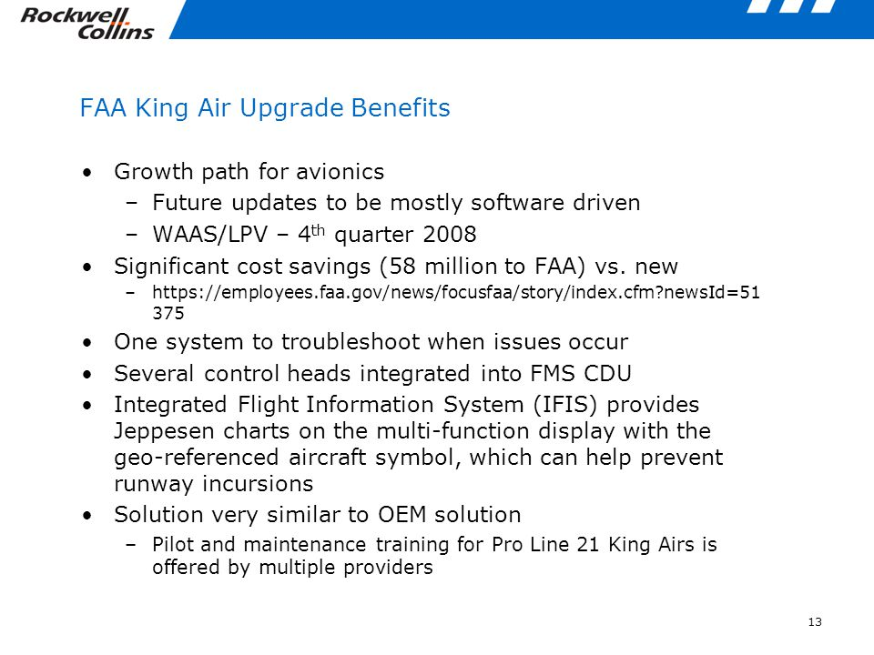 FAA King Air Upgrade Benefits