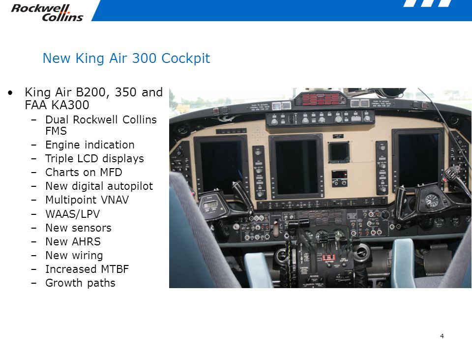 New King Air 300 Cockpit King Air B200, 350 and FAA KA300