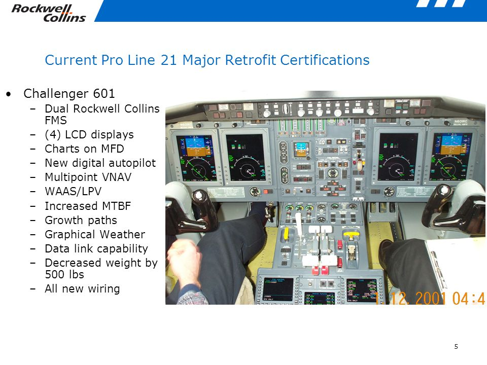 Current Pro Line 21 Major Retrofit Certifications