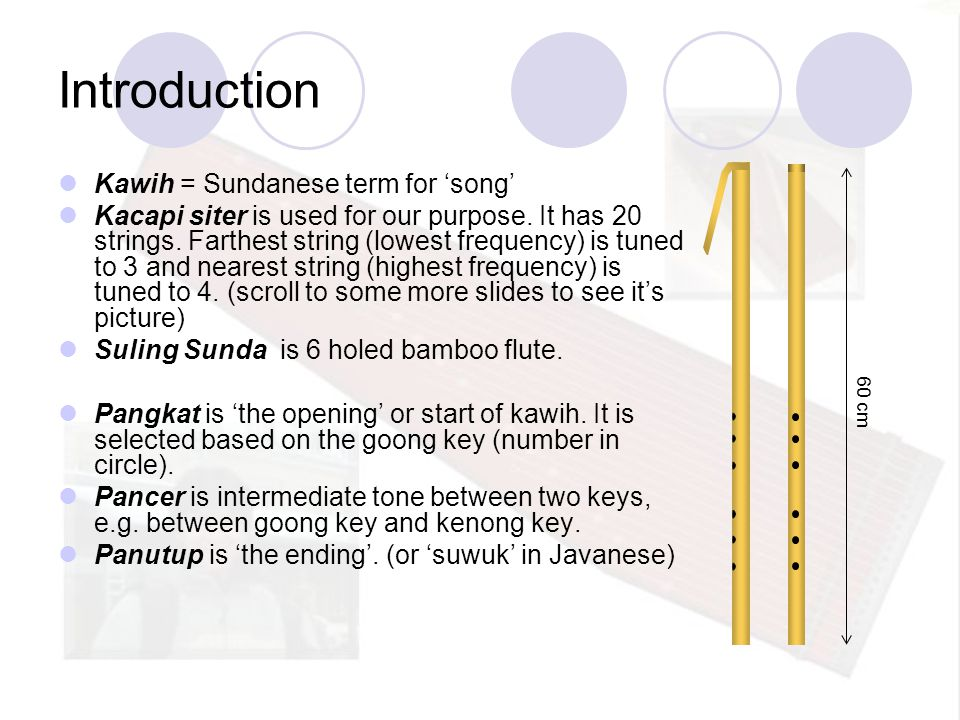 Introduction Kawih = Sundanese term for 'song'