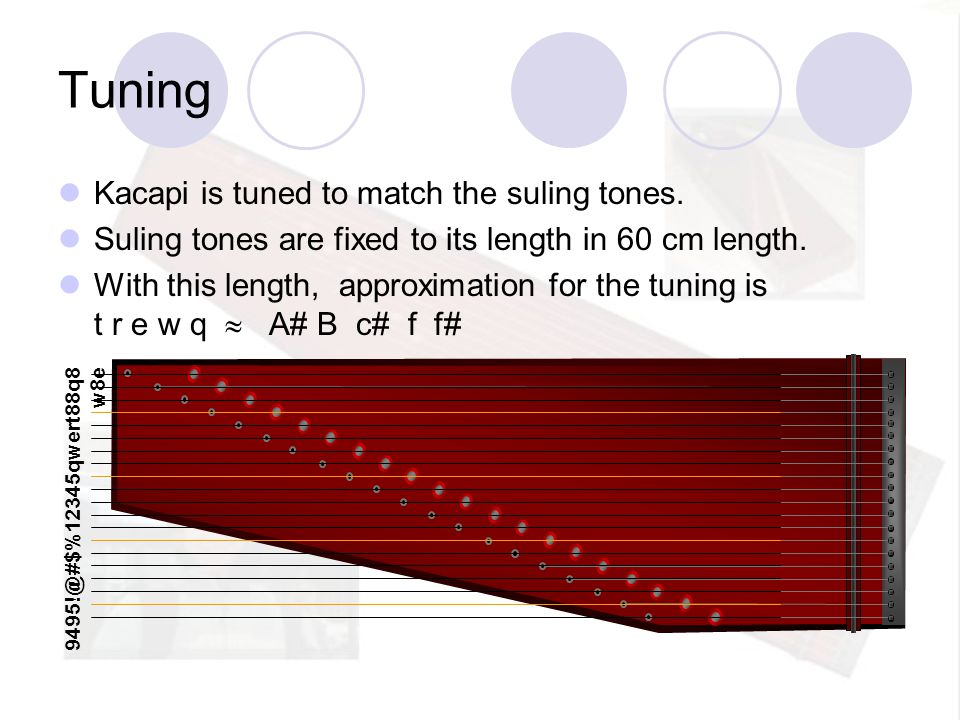 Tuning Kacapi is tuned to match the suling tones.
