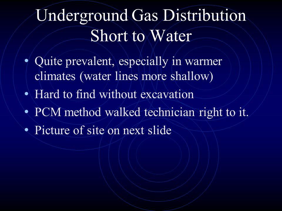 Underground Gas Distribution Short to Water