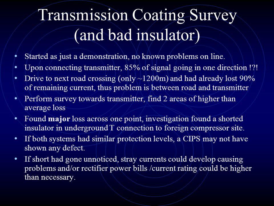 Transmission Coating Survey (and bad insulator)