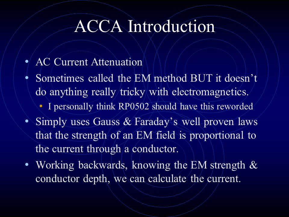 ACCA Introduction AC Current Attenuation
